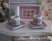 Iced Fancies Coffee Mug and Plate for Dollhouse