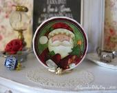 Merry Santa Dollhouse Plate