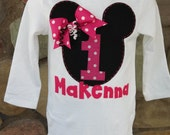 Personalized Minnie Mouse birthday shirt/onesie