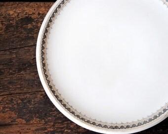 Heinrich Selb Bavaria Tea Tile Coffee Pot Trivet, Gold Black Silver, Vintage Fine China Tableware Dinnerware