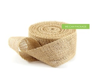 "2"" x 10 Yards Jute Burlap Trim Ribbon Scrap Booking Craft Gift Wrapping Ideas 2 Inch"