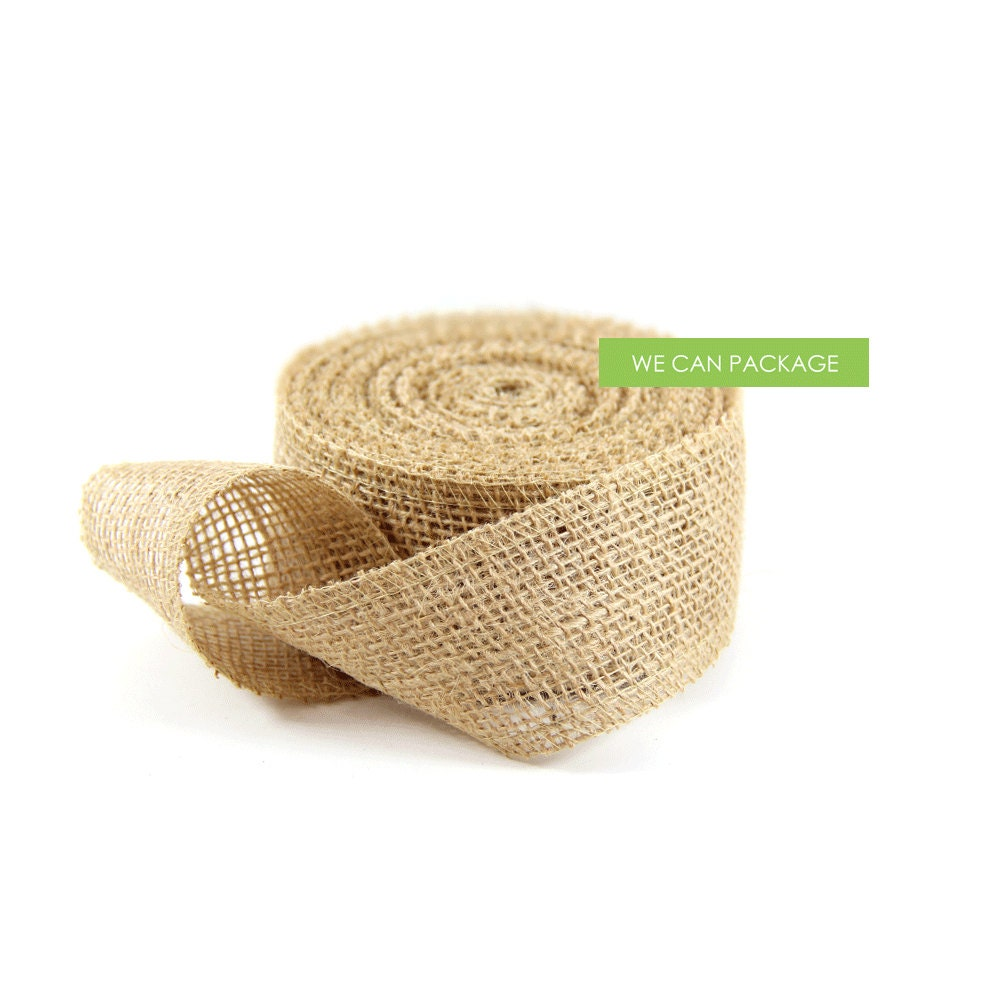 2 x 10 yards jute burlap trim ribbon scrap booking craft for Burlap ribbon craft ideas
