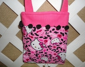 Little Girl's Hello Kitty Shoulder Bag/ Purse in Pink and Black with Inside Pockets