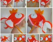 Handmade crochet pokemon magikarp hat