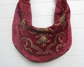 Bohemian Gypsy Bag Purse Cut Chenille Cut Velvet