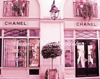 Chanel Print, Paris in Pink, Paris Wall Art, Fashion Photography, Paris Nursery Print,Fashion Dorm Decor, Pink Nursery Print,Chanel Wall Art