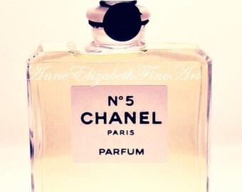 Chanel,Fine Art Photography, Still Life, Pink, Fashion, Perfume, Paris Photograph, Chanel No 5,Nursery ,Dorm,Romantic, Vintage, Pastel, Chic