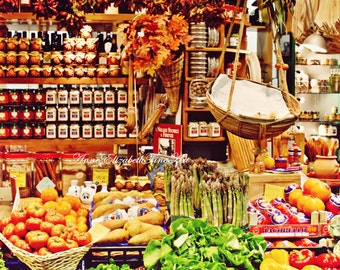 Fruit & Vegetable Market,Italy Photography, Italian Decor, Tuscan, Tuscany, Food,Farmhouse, Kitchen Art, Colorful,Fall Colors,Autumn,Farmer