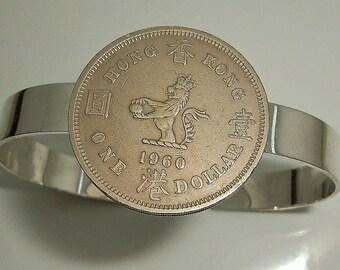 Hong Kong Coin Cuff Bracelet 1960