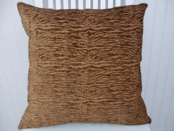 Chenille Throw Pillow Covers : Brown Chenille Decorative Pillow Cover by CodyandCooperDesigns