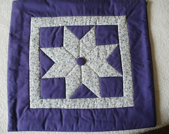 Purple quilted cushion cover.  2 available