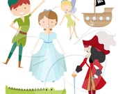 Peter Pan Digital Clip Art Set - Personal and Commercial Use