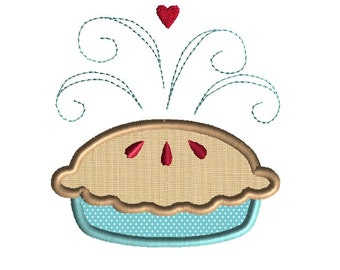 Cherry Pie Applique Machine Embroidery Design-INSTANT DOWNLOAD