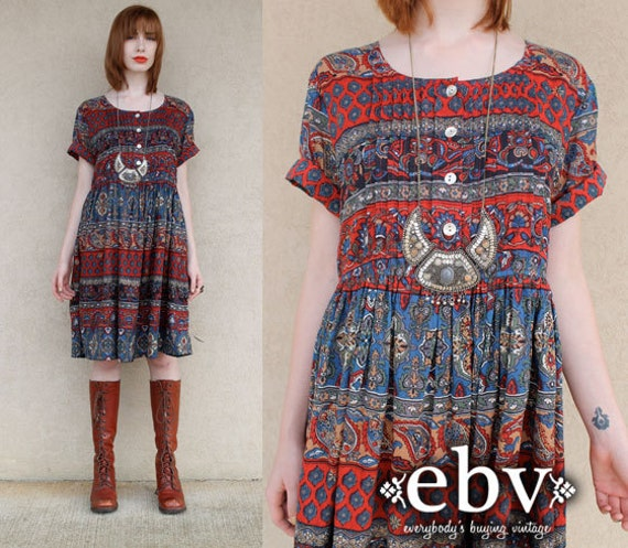 vintage hippie dress hippy dress boho vintage indian by