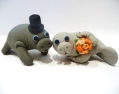 Manatee Wedding Cake Topper - Choose Your Colors