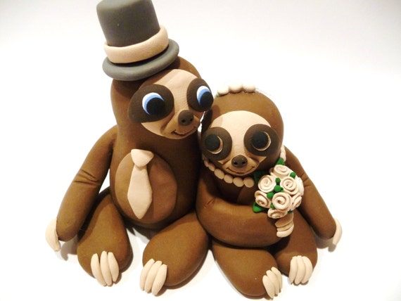 sloth wedding cake topper sloth wedding cake topper choose your colors 20197