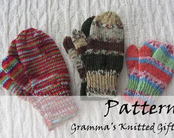 Classic Kids Mittens Knitting Pattern