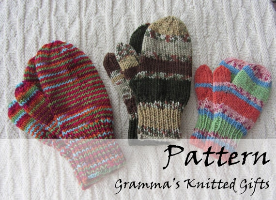 Knitting Pattern For Childrens Mittens : Classic Kids Mittens Knitting Pattern