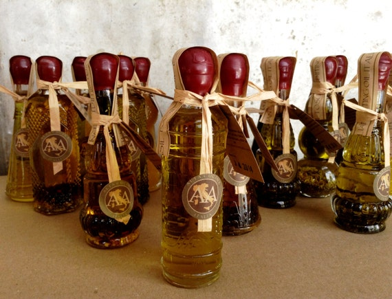 Italian Wedding Gifts: Items Similar To Italian Wedding Favors Infused Olive Oils