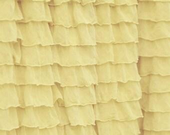 Ready to Ship: Light Yellow Ruffle Straight Crib Skirt