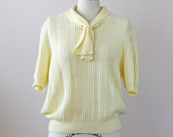 1960s Knit Top / 60s Sweater // The School Crush Top