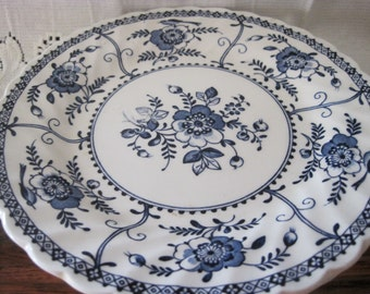 Vintage Johnson Bros. Indies Blue Ironstone Bread & Butter Plates (3)