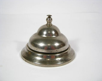 Silver Metal Bell - Hotel Desk School Bell - Teachers Bell