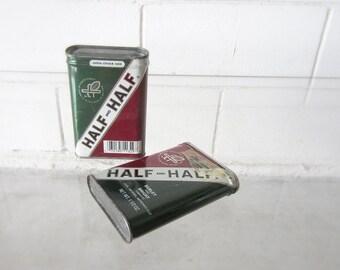 30% Off - Vintage Tobacco Tins Half and Half Burley and Bright