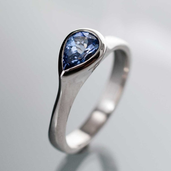 Tear Drop Pear Tanzanite Engagement Ring in by NodeformWeddings