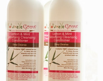 Lemon  & Mint Detoxifying Cleansing Conditioner (Co-wash) for healthy natural hair growth