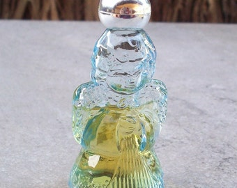 Vintage Avon Heavenly Angel Mini Figural Decanter with Ariane Ultra Cologne    Avon Angel Cologne Bottle
