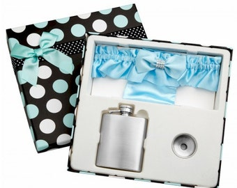 3oz Garter Belt Flask in Gift Box