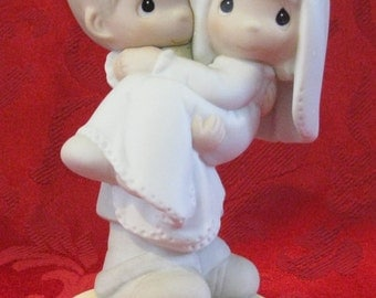 """Precious Moments Figurine """"Bless You Two"""""""