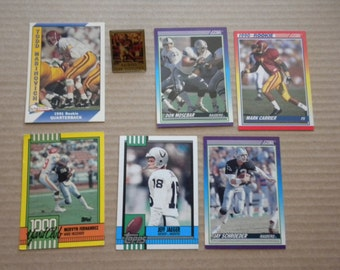 Vintage Los Angeles Raiders Football Cards Trading Cards Lot of 6 plus Collector Pin NFL
