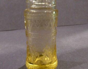 Patrician Spoke Salt Pepper Shaker Federal Glass Vintage