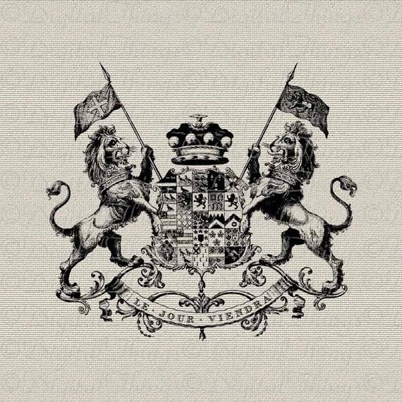Lion With Crown Car Logo French crest emblem crownLion With Crown Car Logo