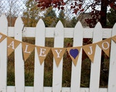 Bride and Groom Banner, Custom Name, Wedding, Save the Date, Bridal Shower