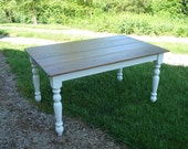 Farmhouse Table, Kitchen Table, Dining Room Table, White Table, Etsy Farm Tables, Farm Tables
