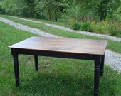 Farmhouse Style Table, Kitchen Table, Black Dining Room Table