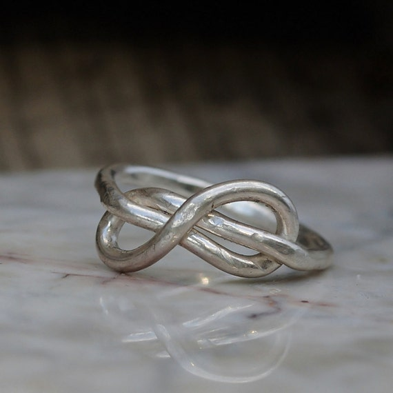 Infinity Ring - Infinity Ring of Fine Silver - Infinity Knot Ring