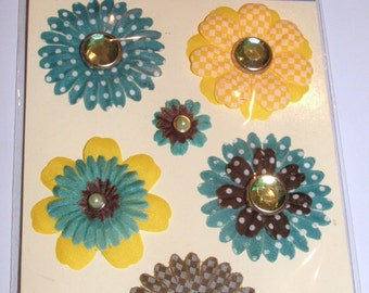 Recollections 3D Printed Flowers Embellishments 8 pieces