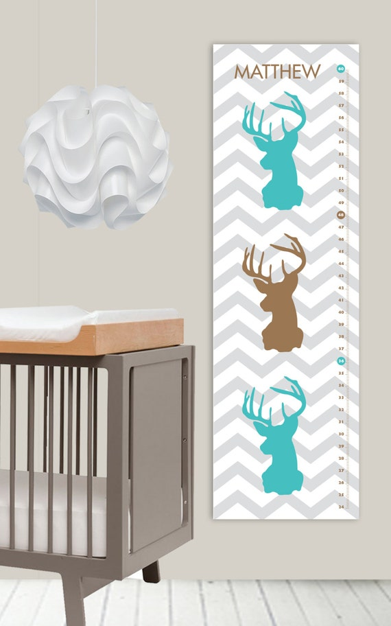 Items similar to oh deer growth chart modern nursery for Nursery charts