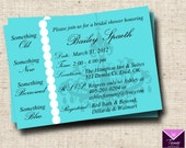 Breakfast at Tiffanys Bridal Shower Invitation Card - Custom Printable