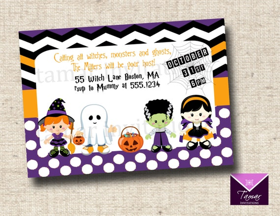 Cute Halloween Party Invitation