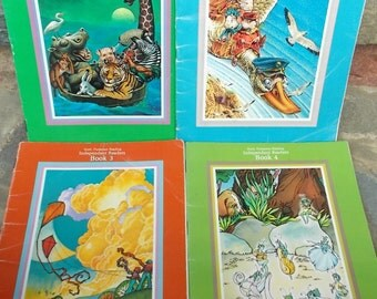 Begin to Read Childrens Books Set of 4 Independent Readers by Scott Foresman Co Vintage 1985 US Shipping Included
