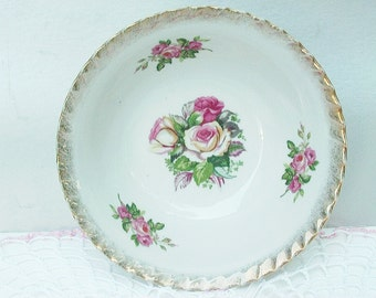 Vintage Shabby Rose Bowls Cottage Chic Stunning Colors