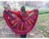 SALE-Upcycled Sweater Coat, Gypsy Coat- Made from Recycled Sweaters