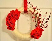 Valentine Wreath Indoor Decorative Holiday 12 INCH