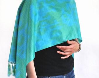 Mirage Karakum Ikat Silk Scarf - 6013. Free Shipping on orders 100 dollars and up (USA). Coupon Code: USFREESHIPPING