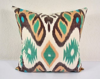 "Psychedelic Fantasy 20"" Ikat Pillow Cover - P_A522-1AA3"